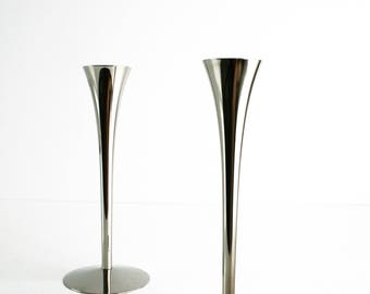 Arthur Salm AS Solingen Germany Candleholder Pair