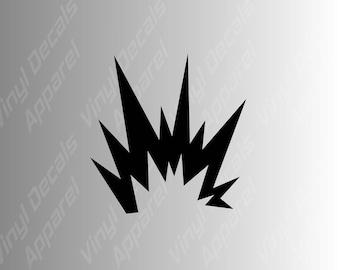 Warning label flames explosion symbol die cut vinyl decal sticker / quality vinyl decals
