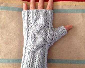 Fingerless gloves - Blue Frost