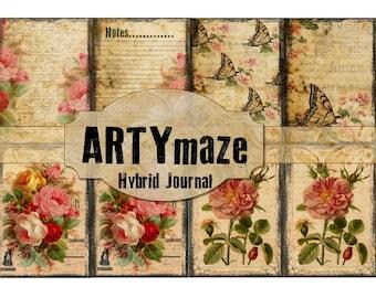 Vintage Themed Printable Journal Kit  INSTANT DOWNLOAD