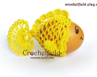 Crochet Fish Egg cover, egg warmer, egg wrap, Easter, set of 3,6,9,12 , crochet decor, Home decor,  Table decor, lace