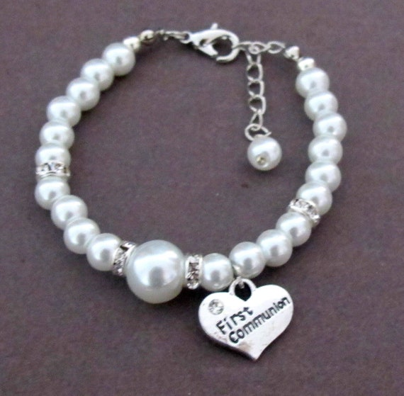 First Holy Communion Bracelet,First Communion Gift,Baptism Gift Idea,Goddaughter Gift,Religious Kids Jewelry,Catholic Gift,Free Shipping USA