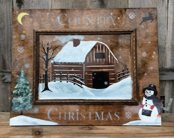 Country christmas board