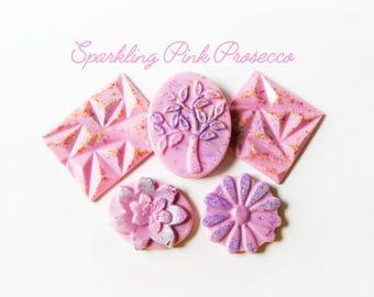 Sparkling Pink Prosecco Wax Melts (8.3 Oz.) - Hand Poured Wax Melts - Handmade Wax - Designer Wax Melts - Wax Tarts - Melts - Handmade