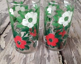 Vintage flower glasses
