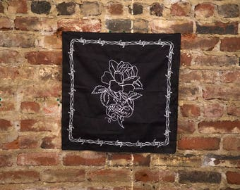 Chainstitch 'Mother' Rose Bandana Banner