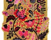 Pink Flowers Motives Art Print