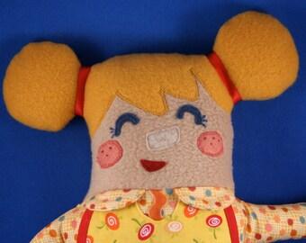 Gretel Plush doll, girl, art doll, plushie, fairytale, stuffed animal, girl doll
