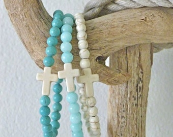 cross bracelet, beach bohemian jewelry, beach boho bracelet, boho jewelry, beachcomber beach accessory