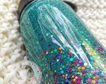 Glitter Water Bottle//Stainless Steel Water Bottle//Glitter Dipped//Personalized Bottle//Custom Straw Water Bottle//Birthday Gift//Sports