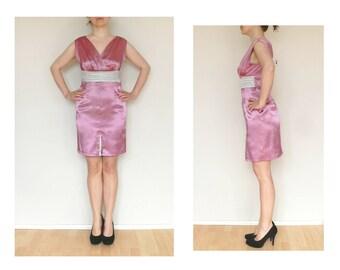 Beautiful Vintage dress, floral dress, long dress, v neck dress
