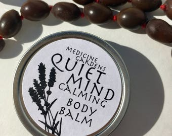 quiet mind body balm- moisturizer on the go! made with lavender frankincense & myrrh to quiet the mind