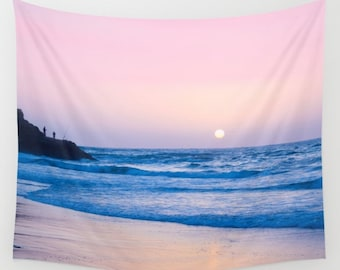Sunset Tapestry Stones Tapestry Beach Tapestry Pink Sunshine Tapestry Photo Tapestry Sea View Tapestry Wall Hanging Sky Tapestry Sea Tapestr