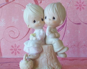 SALE 1978 Precious Moments Porcelain Figurine - Love One Another