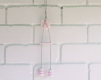 Pink & White Clay Wall Hanging