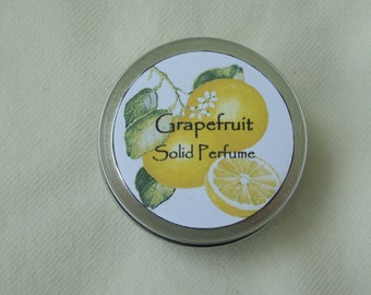 Grapefruit Solid Perfume, Perfume, Solid Perfume, Grapefruit Perfume, Fragrance, Essential Oil Perfume, Valentine's Day Gift, Natural Perfum