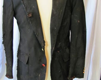 bloody (38R) zombie coat, zombie businessman, zombie costume, coat, bloody, undead, living dead, halloween costume, zombie suit. Z12