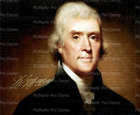 Thomas Jefferson President - Edible Cake and Cupcake Topper For Birthday's and Parties! - D1112