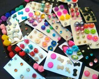 100 Pairs Wholesale Lot Bulk Stud Earrings  Brand New :)