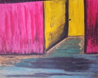 yellow door original painting