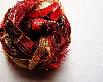 Red Queen gold ruby metallic Tinsel Sparkle Shiny Ribbon Cord Trim Sampler