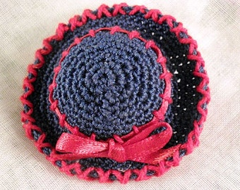 Pin - Miniature Hat Red and Blue OOAK