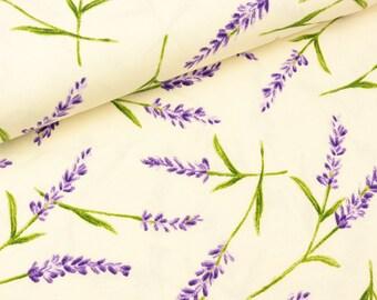 Furnishing Fabric Lavino Lavender on Ecru 280 cm wide (19.90 EUR/meter)