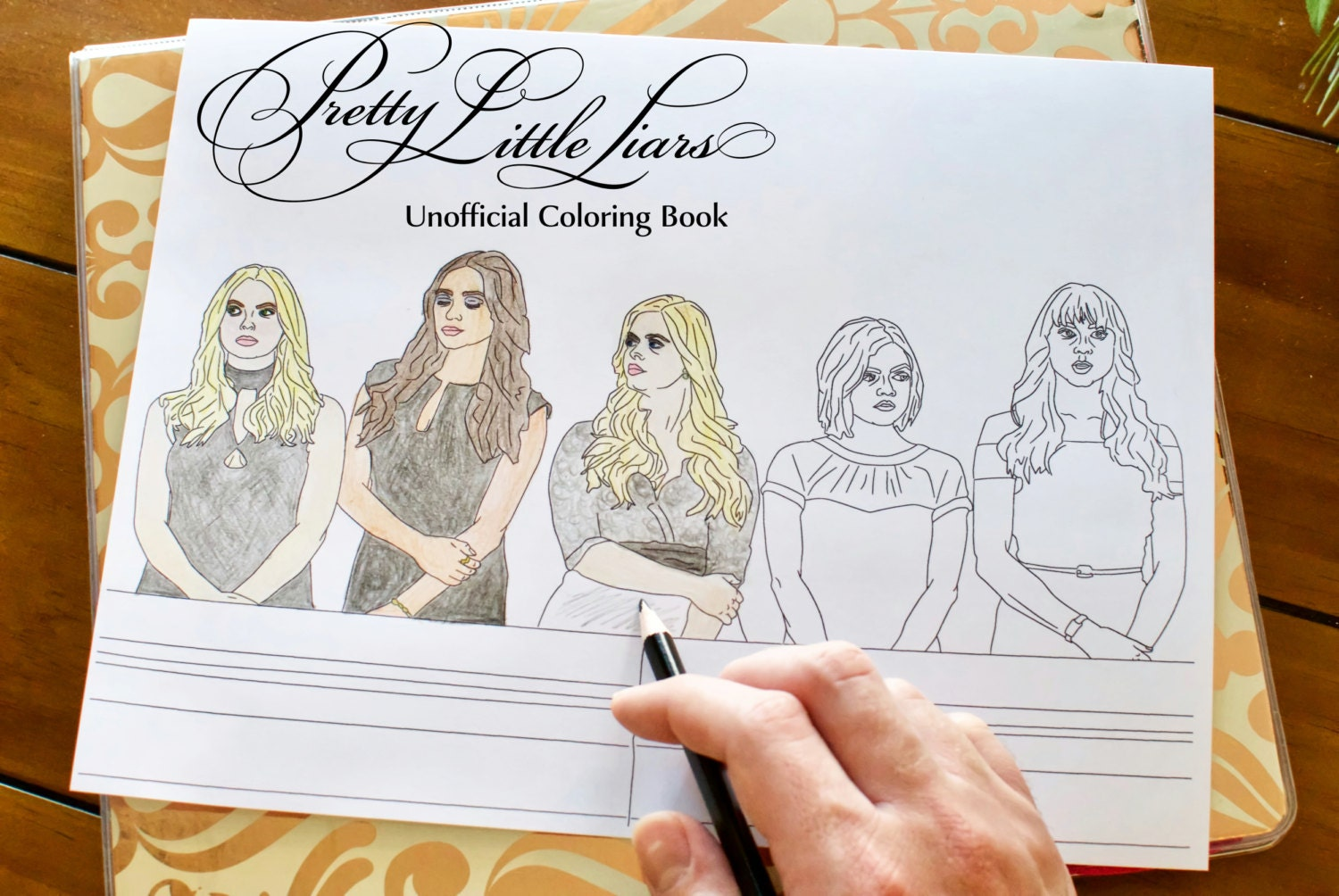 pretty liars coloring book unofficial printable