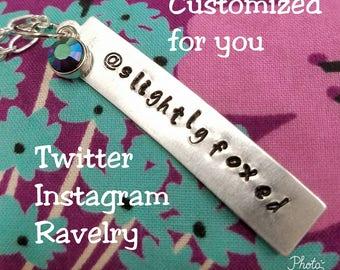 Meet Up Name Necklace - Twitter Instagram Ravelry Custom Name