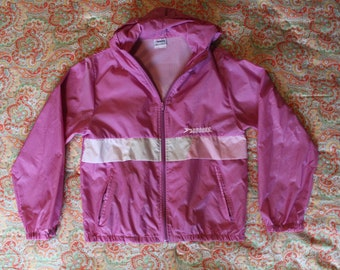 90s Pink Windbreaker - Size S - By Brooks - Brooks Windbreaker