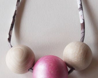 Liberty Mitsi & wood beads necklace