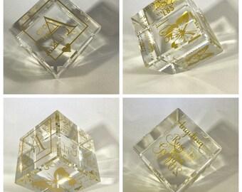 Crystal baby block