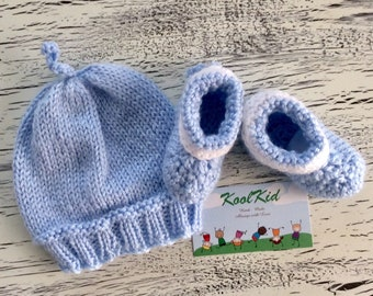 Baby Knit Hat with Booties - Cute Baby Basics
