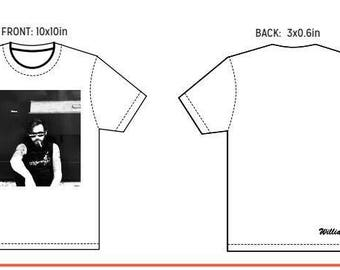 """LARGE The """"INAUGURAL"""" -- White Crew T"""