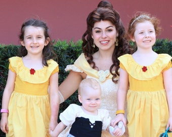 Belle - Beauty and the Beast - Simple Version - Character Inspired Dress - Sizes 1/2 through 8