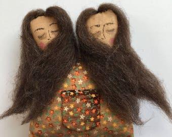 Ooak handmade art doll conjoined twins creepy cute