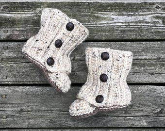 Crochet Baby Wrap Boots
