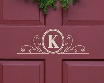 Family name Monogram Door Decals Family Last Name Wall Decal Initial Stickers Custom Vinyl Decals Window Decal Mailbox Stickers Wedding
