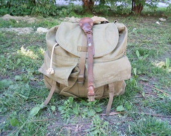Large, Vintage Military Backpack for Hiking. Military from Former Czechoslovakia #1