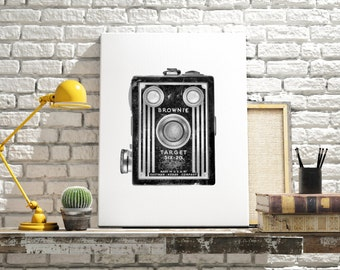 MAN CAVE DECOR - Canvas art - Black and white art - Machine age - Modern office - Industrial home decor - Hipster art - Art Deco style