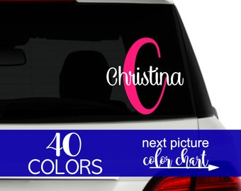 Girly Car Decals Etsy - Cool car stickers for girls