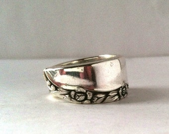 Spoon Ring, Size 5, Floral