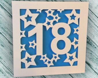 Papercut - 18th Birthday Card