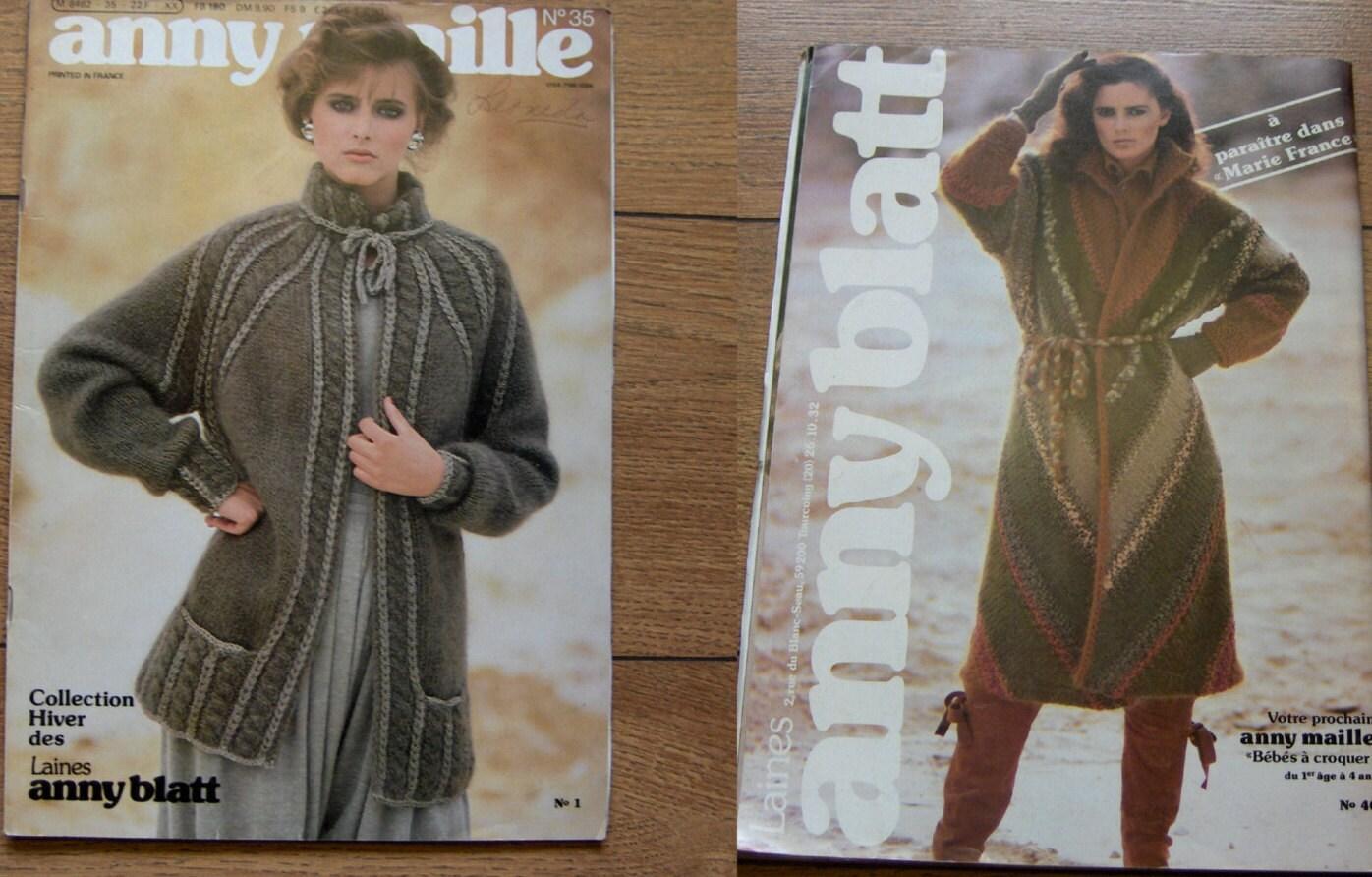 vintage 1981 knitting patterns Anny Blatt no. 35 men women