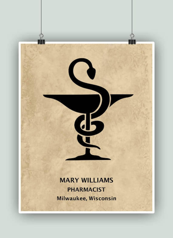 Pharmacy wall art PERSONALIZED Pharmacist Print Pharmacy