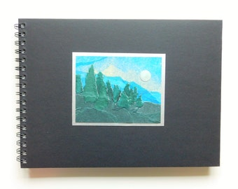 Sketchbook, Blank book, Guest book ideas, Blank journal diary, Unique guest book, Scrapbook album, Planner notebook, Plain memory book.