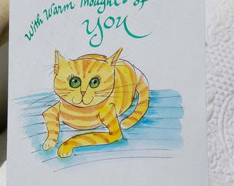 Original greeting card. Watercolor and ink. Not a print. Can be personalized.
