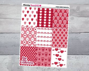 Valentines Day Planner Stickers, Valentines Day Decor, Valentines Day Stickers, Erin Condren Planner Stickers, Valentines Stickers, Stickers