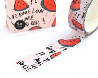Masking tape watermelon fruit