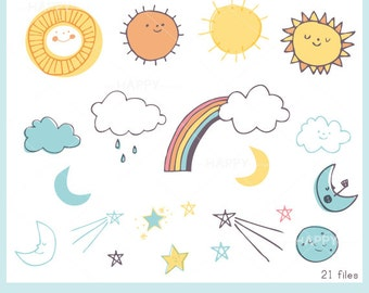 The Sky CLIP ART Set